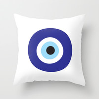 Evil Eye Throw Pillow by Deadly Designer
