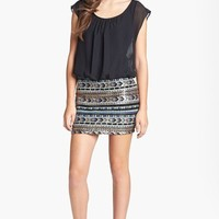 As U Wish Blouson Minidress (Juniors) (Online Only) | Nordstrom