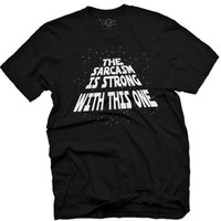 "Men's ""The Sarcasm Is Strong"" Vintage Tee by Glitz Apparel (Black)"