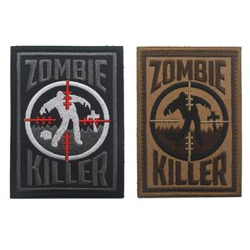 SNIPER Zombie Killer morale Patch novelty survival tactical disaster military tactical patch airsoft BADGE FOR Backpack jacket