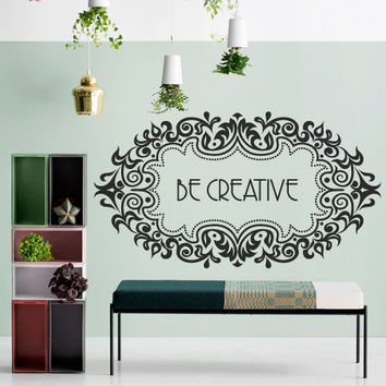 Wall Decor Vinyl Sticker Room Decal Creative Word Sign Quote Phrase Motivation Ornament Tracery (s230)