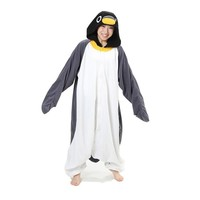 Grey Penguin Adult Unisex Animal Kigurumi Cosplay Costume Pajamas Onesuits (M)
