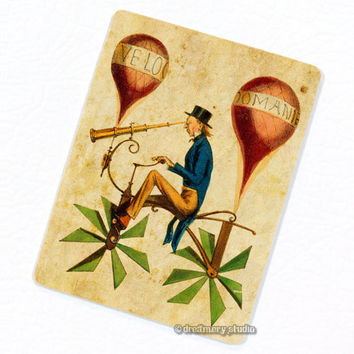 Hot Air Balloon Propeller Bicycle with Telescope Deco Magnet