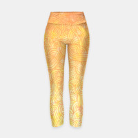 Yellow and orange zentangles Yoga Pants, Live Heroes