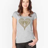 'Save Pangolins' Women's Fitted Scoop T-Shirt by PepomintNarwhal
