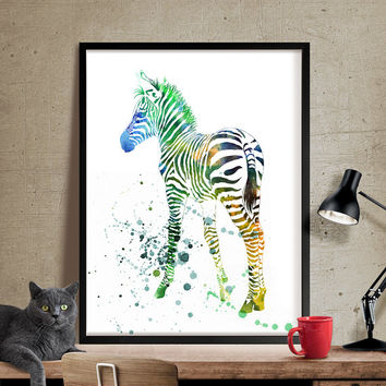 Zebra Watercolor, Zebra Art Print, Watercolor Art, Zebra Print, Watercolor Wall Decor, Watercolor Art, Watercolor Painting, Print(177)