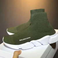 Green Balenciaga Fashion Sport Sneakers Shoes