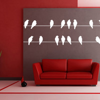 Wall Decal - Birds on wires