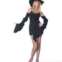 women's costume: sexy witch with hat
