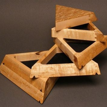 Jewelry Box, Birdseye Maple, 'The Trapezoid'