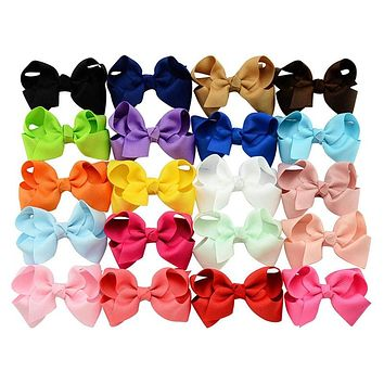 Baby Kids Hair Bow Hairpin Alligator Bow knot Ribbon Clip Grosgrain