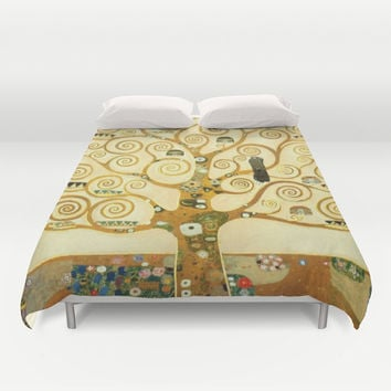 Gustav Klimt The Tree Of Life  Duvet Cover by Art Gallery