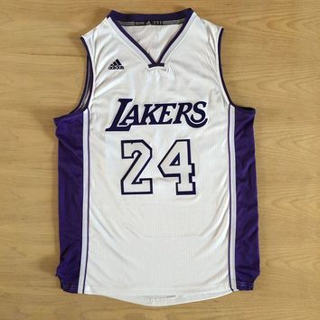 KUYOU Los Angeles Lakers Kobe Bryant White and  Purple Jersey