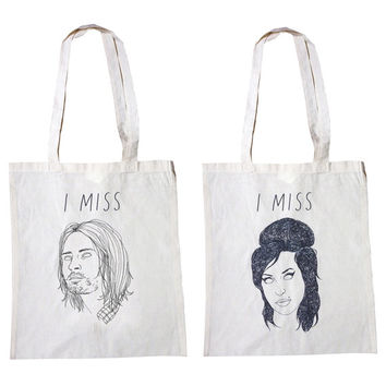 I MISS - TOTE (Kurt Cobain, Amy Winehouse, River Phoenix, The Ramones, Elliott Smith, Serge Gainsbourg, Lady Di, Michael Jackson, Dinosaurs)