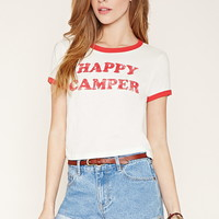 Happy Camper Ringer Tee