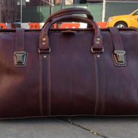 Extra large Travel in Style  Large Leather Travel Duffle Bag