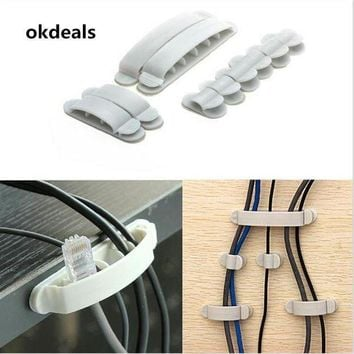 CREYLD1 Hot 10X Cable Cord Wire Mp3 Line Organizer Plastic Clips Ties Fixer Fastener Holder