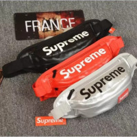 supreme leather waist bag