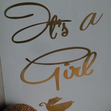 "Print Wall art Quotes "" It's a Girl"""