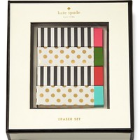 kate spade new york eraser set - White
