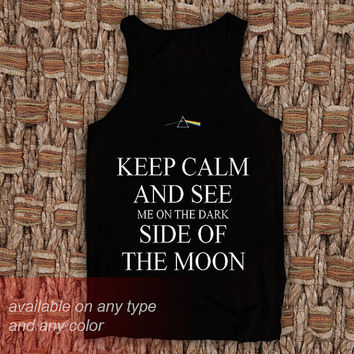 Keep Calm and See Casual Wear Sporty Cool Tank top Funny Tank Cute Direct to garment