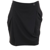 Black metropolitan skirt short with button fastening by vivienne westwood anglomania £170.00