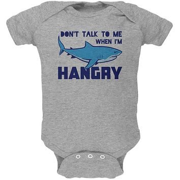 Shark Sharks Don't Talk to me Hangry Soft Baby One Piece