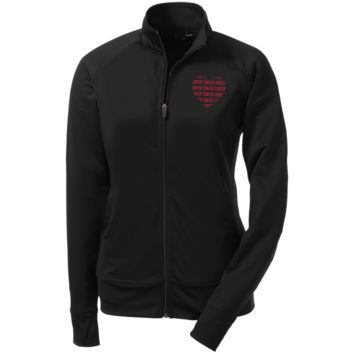 """Cheer Cheer Cheer"" Ladies' Athletic Stretch Full Zip Jacket"