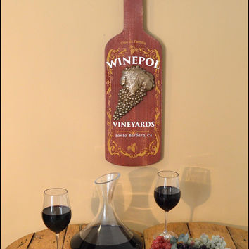 Personalized Large Grapes Rum Bottle Shaped Sign