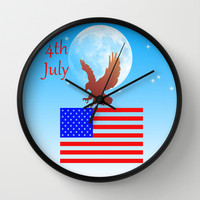 4th July Wall Clock by Haroulita