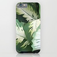 Painted Green Foliage  iPhone & iPod Case by KCavender Designs