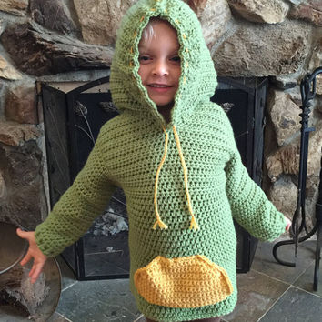 Handmade/crocheted Dinosaur Hooded Sweater - 3 Months To 5T -Any Color