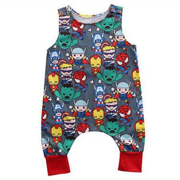 DCCKL3Z Summer 2017 Baby Kids Girl Boy Infant Summer Sleeveless Romper Harlan Jumpsuit Clothes Outfits 0-24M