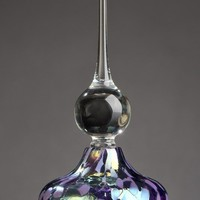 Elegant Violet Lavender Perfume Bottle by Bryce Dimitruk: Art Glass Perfume Bottle | Artful Home