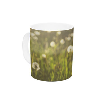 "Libertad Leal ""As You Wish"" Dandelions Ceramic Coffee Mug"