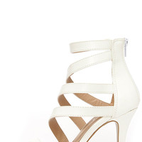 Fairy Tale Ending White High Heel Sandals