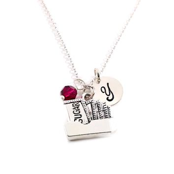 Sugar Charm - Sweets Food Personalized Sterling Silver Necklace