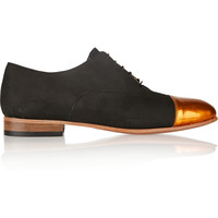 Dieppa Restrepo Joe nubuck lace-up flats – 50% at THE OUTNET.COM