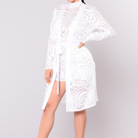 Martina Lace Cardigan - White