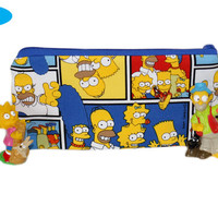 NEW Pencil Pouch | Zippered Bag | The Simpsons | Pencil Case | Notions Bag | Pencil Holder | Simpsons