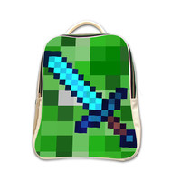 Diamond Sword Of Minecraft Gamer Backpack (2015 New Arrival