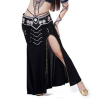 Sexy Professional Women Belly Dance Costume with Slit Modal Cotton Skirt Dress 7 colors SM6