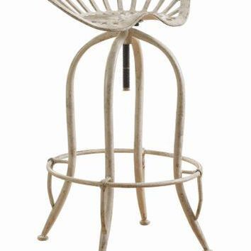 Coaster Furniture 104947 ADJUSTABLE BAR STOOL ANTIQUE WHITE