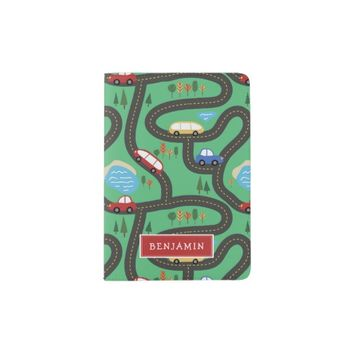 Kids Road Map - Red& Blue - Custom Name Passport Holder