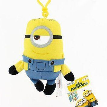 Minions Movie: Stuart Backpack Plush Backpack Clip Keychain