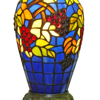 Tiffany-style Grapes Table Lamp 13-inch Tall