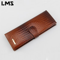 LMS 2017 New Fashion Men Women Wallet Purse Credit Card Holder Brand PU Leather Cover on The Passport Women Business Card Holder
