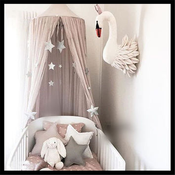Children Big Top Hanging Kids Play Tent Cotton hemp Teepee White Playhouse for Baby Room Tipi