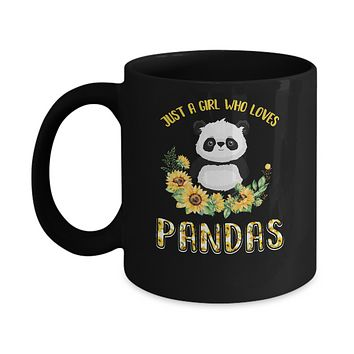 Just A Girl Who Loves Pandas And Sunflowers Mug