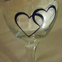 Personalized wine glasses-anniversary gift-wedding gift-bridal party gift-Valentine's gift